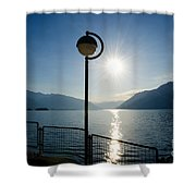 Street Lamp And Water Shower Curtain