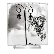 Street Lamps Shower Curtain
