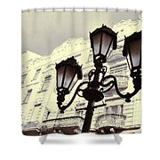 Street Lamps Of Budapest Hungary Shower Curtain