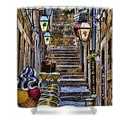 Street Lane In Dubrovnik Croatia Shower Curtain