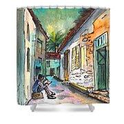 Street Life In Nicosia Shower Curtain
