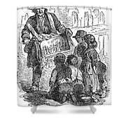Street Musician, 1850 Shower Curtain