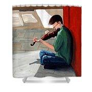 Street Musician 3 Shower Curtain