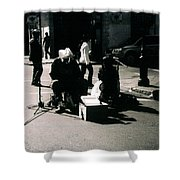 Street Musicians- Grandpa Elliot Shower Curtain