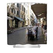 Street Restaurant Shower Curtain