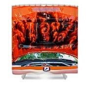 Street Rod Hood 3 Shower Curtain