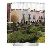 Street Scene In Plaza De La Paz Shower Curtain