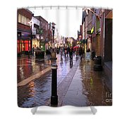 Street Scene Outside Windsor Castle Shower Curtain