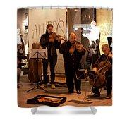 Street String Quartet Shower Curtain
