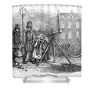 Street Telescope Shower Curtain