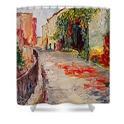 Streets Of Old Cannes Shower Curtain