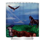 Strenght And Flight Shower Curtain