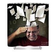Stressed Shower Curtain by Carlos Caetano