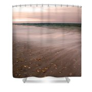 Stretching Tides Shower Curtain