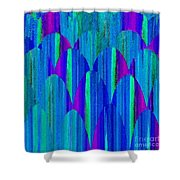 Striations Shower Curtain