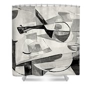 Stringed Instrument On Table Shower Curtain
