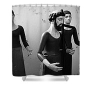 Stripped Saints Shower Curtain