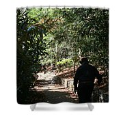 Stroll In The Shadows Shower Curtain