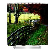 Strolling Down The Old Country Road Shower Curtain