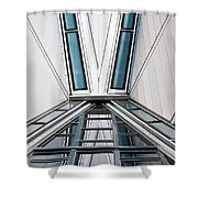 Structure Reflections Shower Curtain