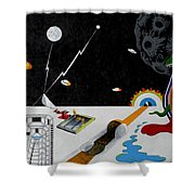 Stuck In Time And Space Shower Curtain