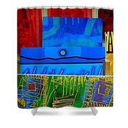 Painting Collage  II Shower Curtain