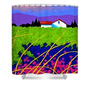 Study For Provence Painting Shower Curtain