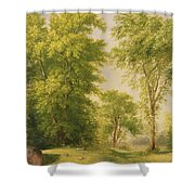 Study From Nature - Hoboken Shower Curtain