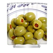 Stuffed Green Olives Shower Curtain