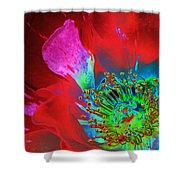 Stylized Flower Center Shower Curtain