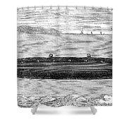 Submarine, 1852 Shower Curtain