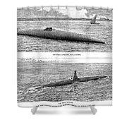Submarine Launch, 1890 Shower Curtain