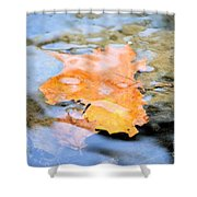 Submerged Sunset Shower Curtain
