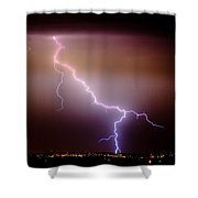 Subsequent Electrical Transfer Shower Curtain by James BO  Insogna