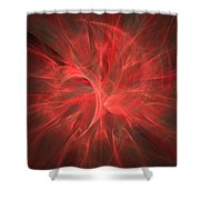 Subtle Aura-fractal Art Shower Curtain