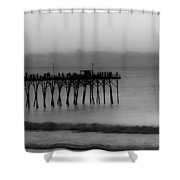 Subtle Pier Shower Curtain