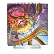 Subtlety Abstract Shower Curtain