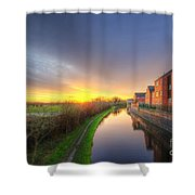 Suburban Sunrise 8.0 Shower Curtain