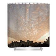 Suburban Sunrise Shower Curtain