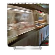 Subway Blur Shower Curtain