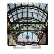 Subway Glass Station Shower Curtain