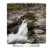Sucker River Falls 2 N Shower Curtain