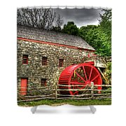 Sudbury - Storm Looms At The Grist Mill Shower Curtain