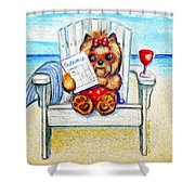 Sudoku At The Beach Shower Curtain