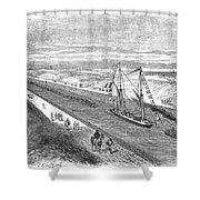 Suez Canal, 1868 Shower Curtain