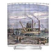 Suez Canal Construction Shower Curtain