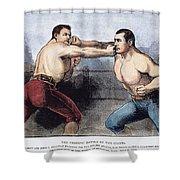 Sullivan & Kilrain Fight Shower Curtain