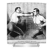 Sullivan Vs. Kilrain, 1889 Shower Curtain