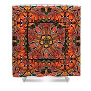 Sumac Autumn Kaleidoscope Shower Curtain