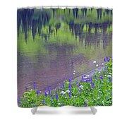 Summer Abstract At Tipsoo Lake Shower Curtain